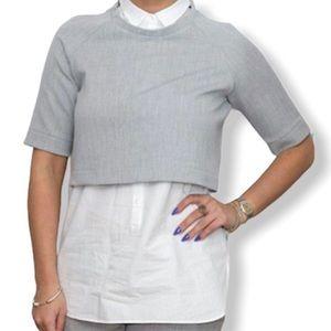 Zara Trafaluc Collection Sweater Button-Down
